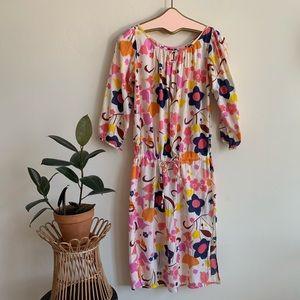 Antik Batik Cotton Floral Drop waist Dress